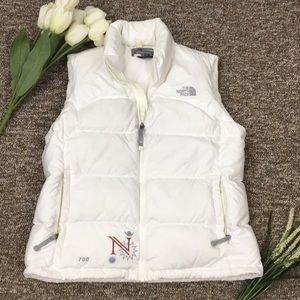 North Face White Puffer Vest Size Large
